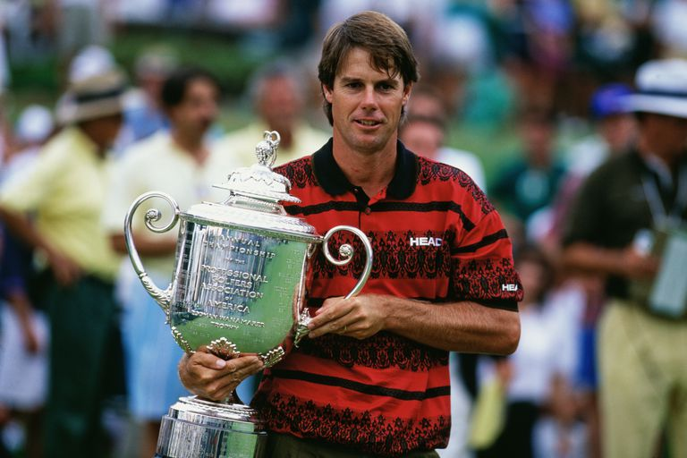 Winner Paul Azinger with the trophy after the 1993 PGA Championship