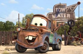 Tow Mater in Cars