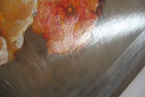 A painting with varnish