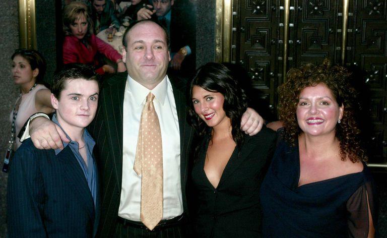 James Gandolfini with fellow cast members