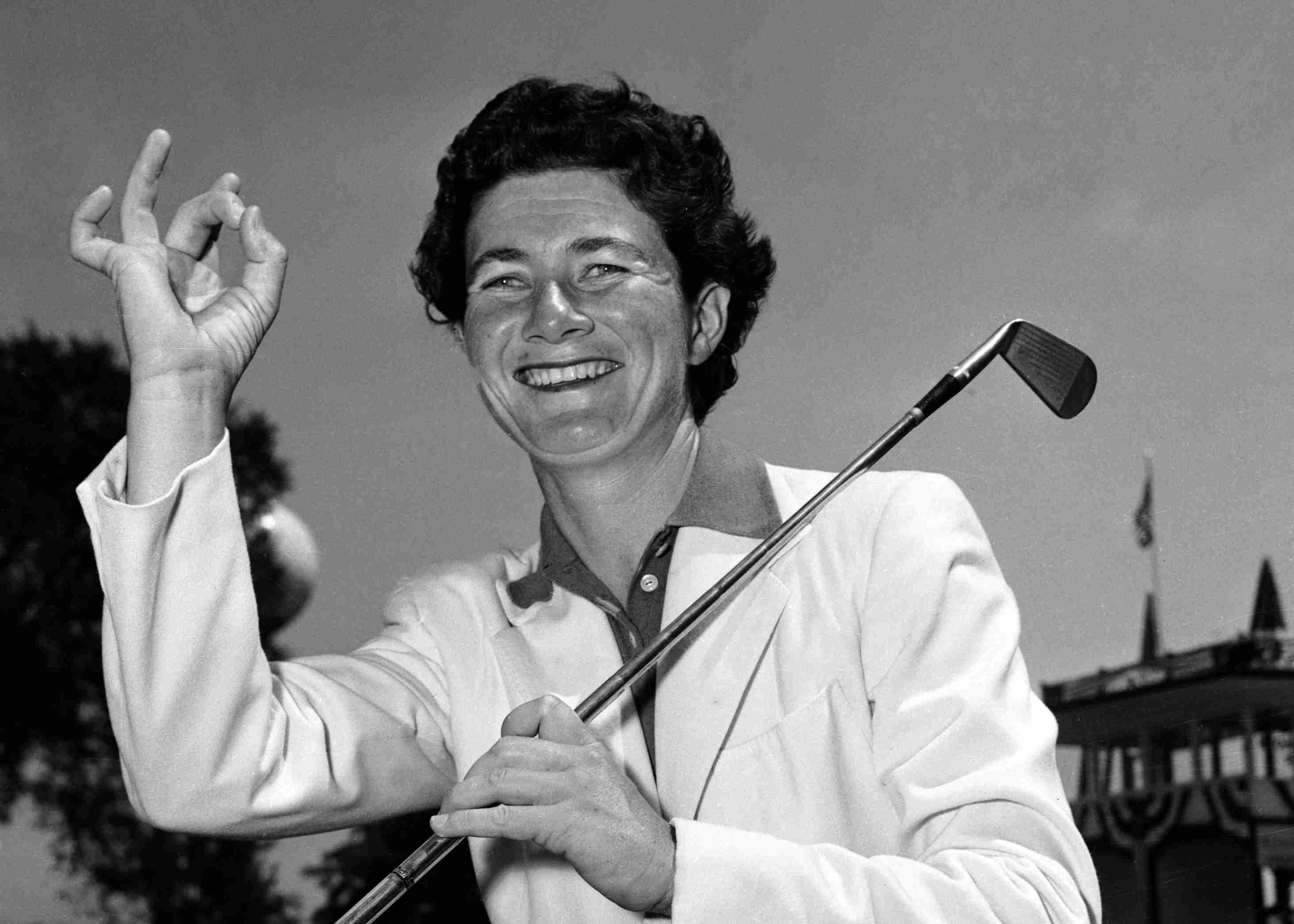 Louise Suggs, one of the LPGA's founder, in 1952