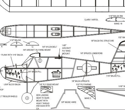 Intermediate and Advanced RC Airplane Plans