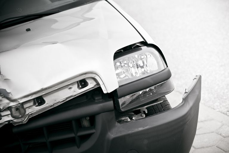 close up of a damaged Car from a crash