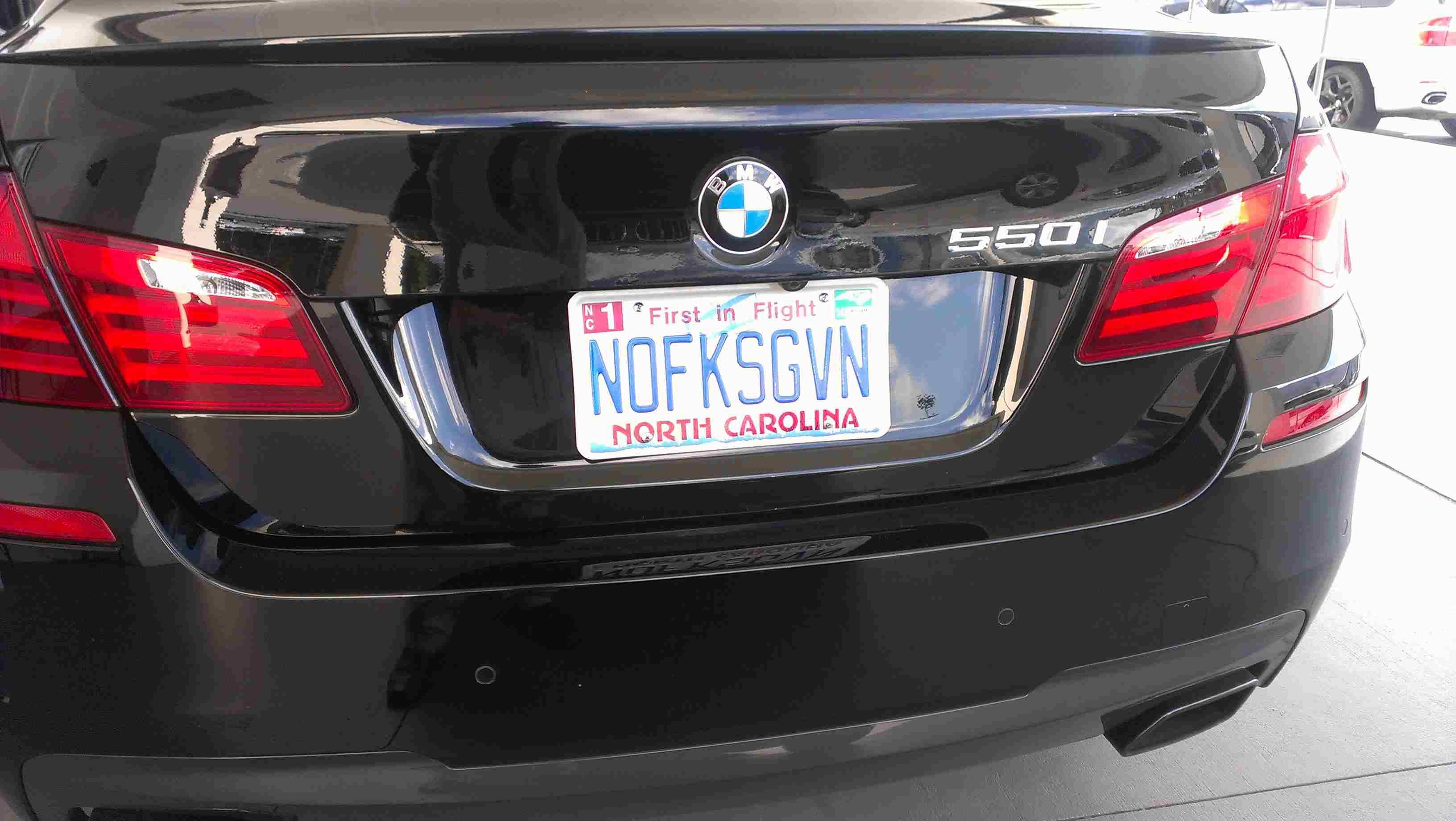 No fucks given license plates