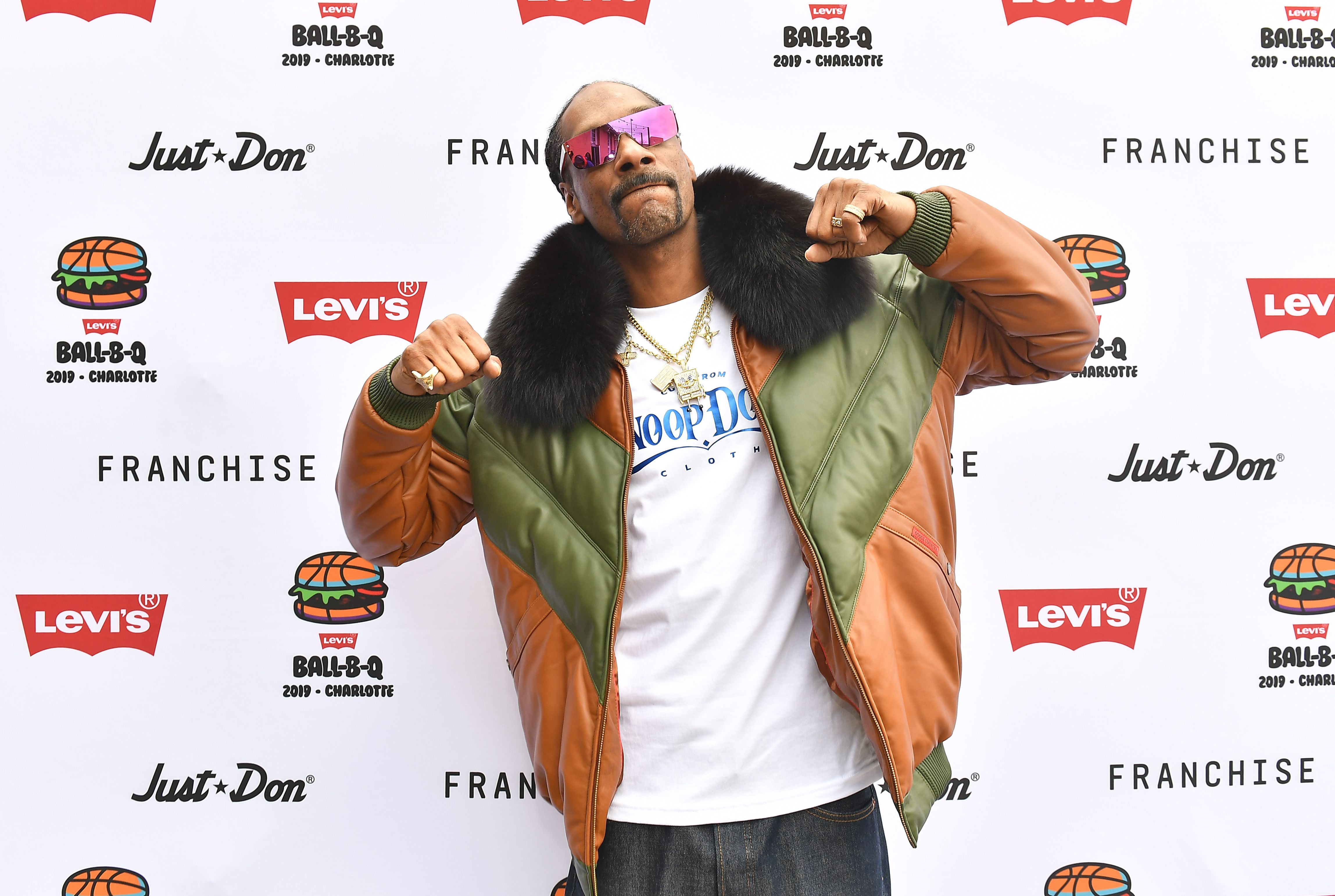 Snoop Dog at Levi's All-Star Weekend Ball-B-Q With Just Don And Snoop Dogg