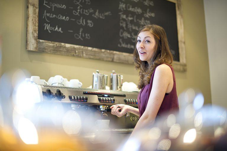An Ohio teenage barista working in a coffee shop