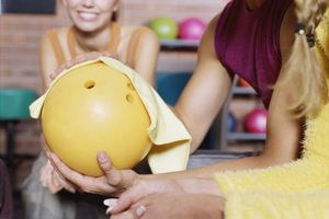 Polishing a bowling ball