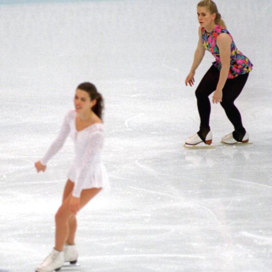 Nancy Kerrigan and Tonya Harding at the 1994 Olympics