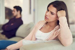 Unhappy couple.