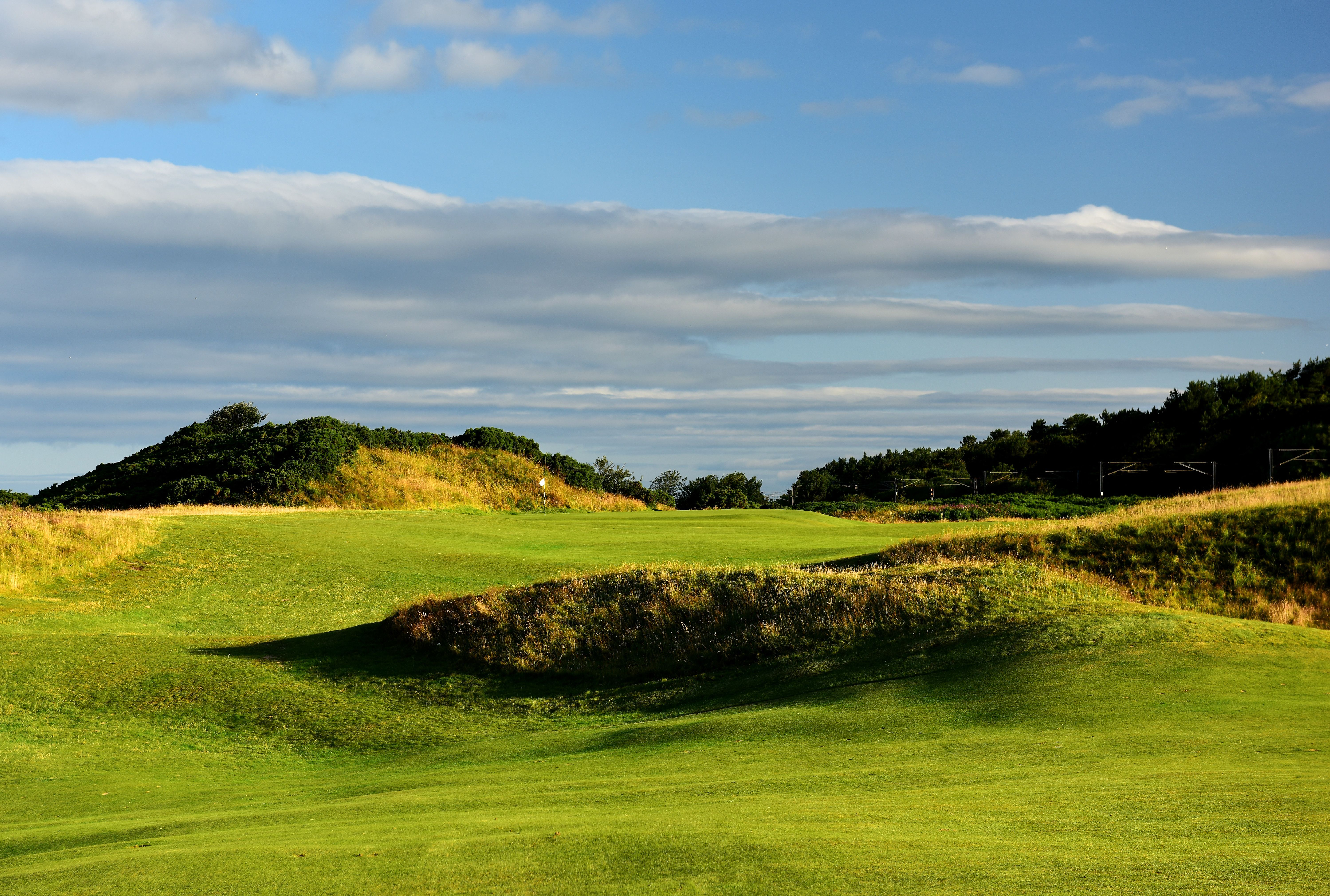 The 438 yards par 4, 10th hole Sandhills on the Old Course at Royal Troon