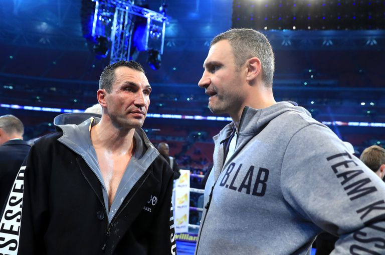 Vitali and Wladimir Boxing at Wembley Stadium