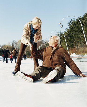 Falling on Ice Skates