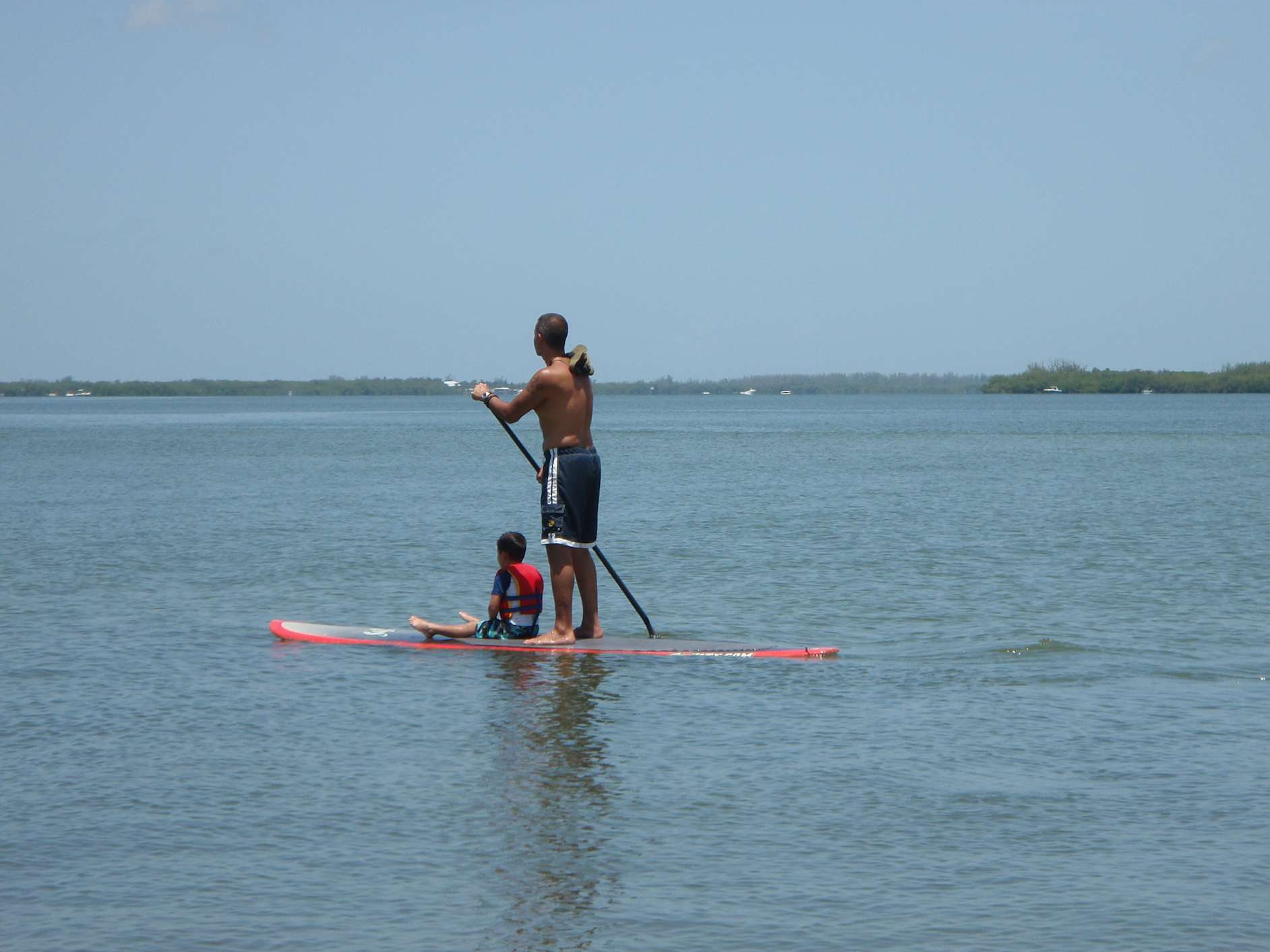 Paddleboarding with Child