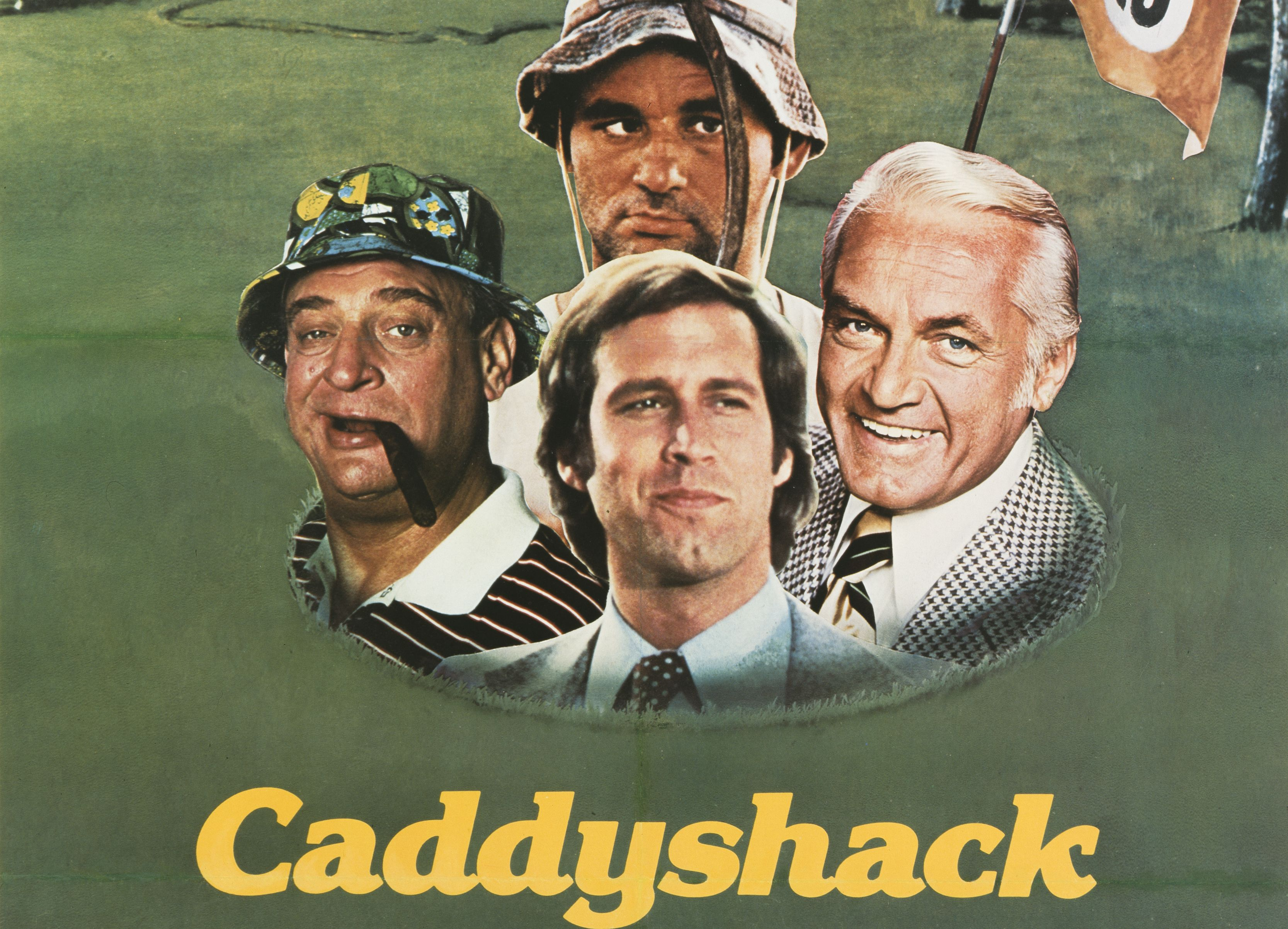 Detail from the movie poster for Caddyshack