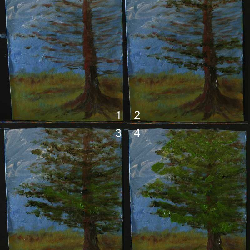 Step-by-Step Tree Painting Demo