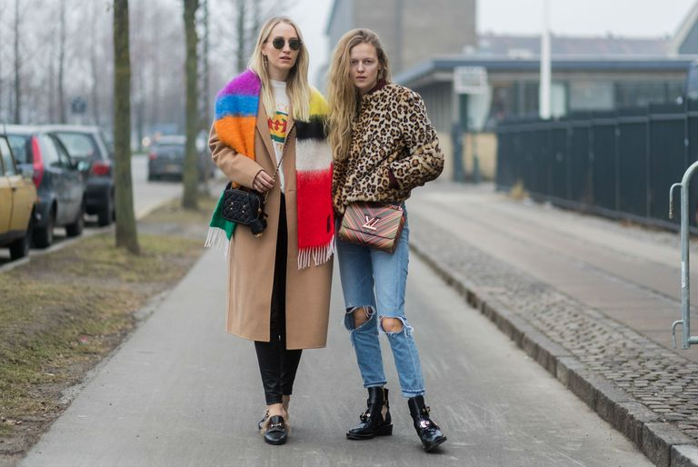 Street style two women in jeans