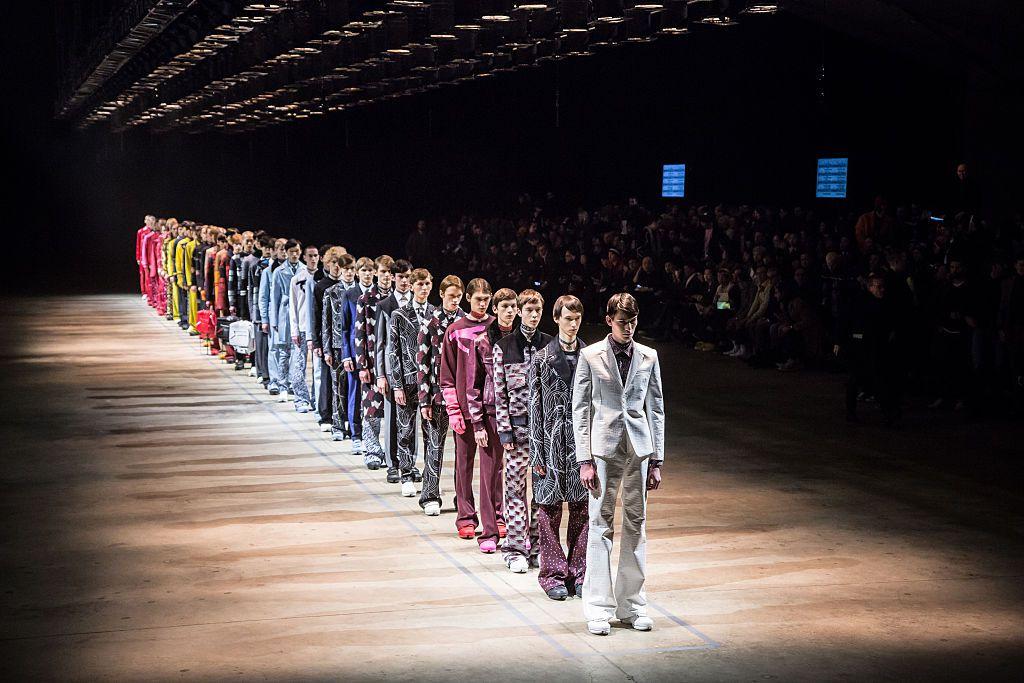Male runway catwalk models