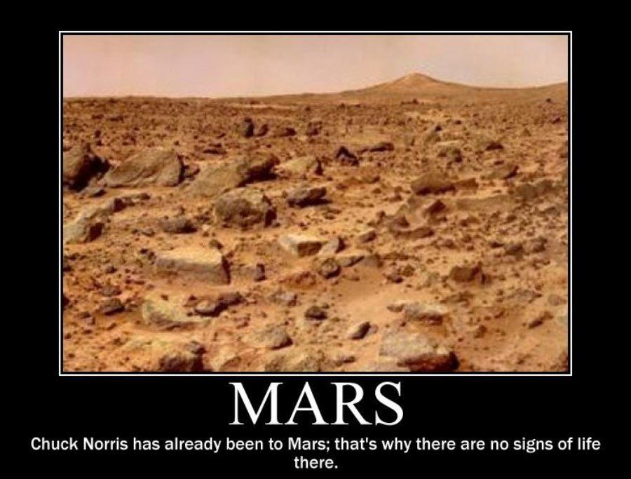 chuck norris mars meme