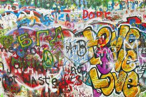 Graffiti on John Lennon Wall in Prague