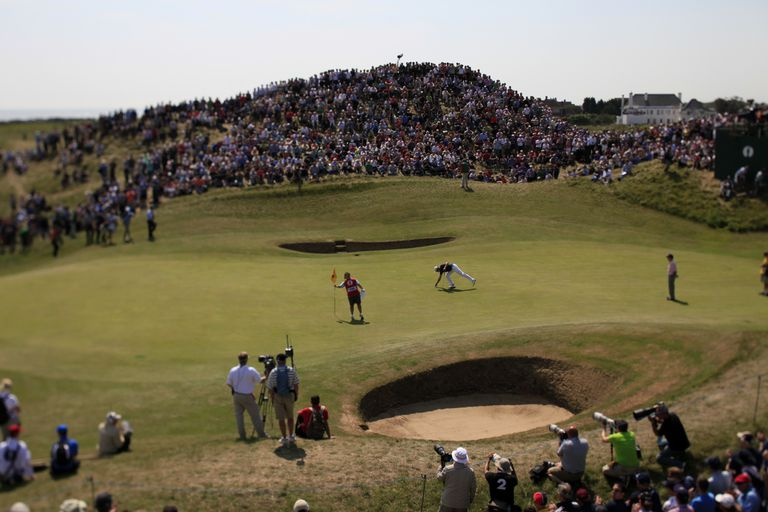 The sixth green of Royal St. George's during Open Championship week.