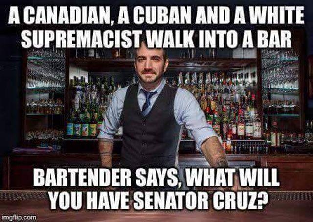 Ted Cruz Bar Joke