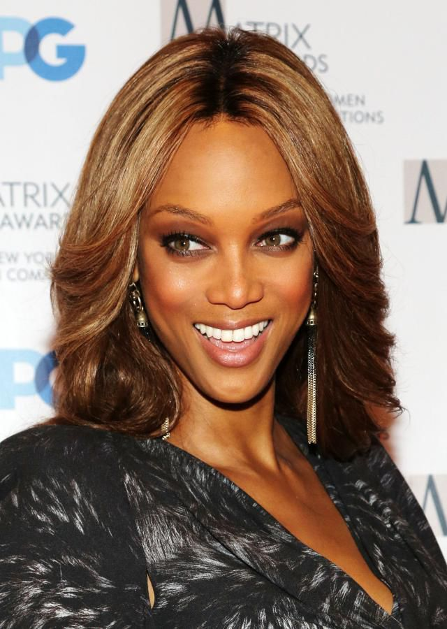 Tyra Banks in lace front wig