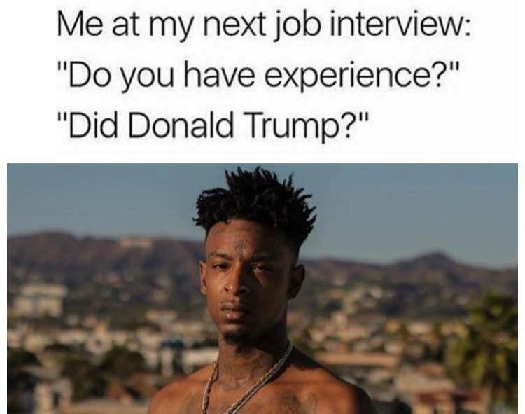 Experience - Trump meme