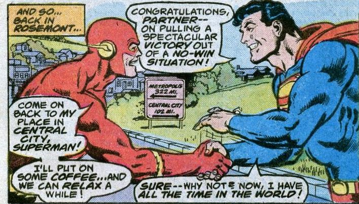 Comic panel of DC Comics Presents #2 (1978)
