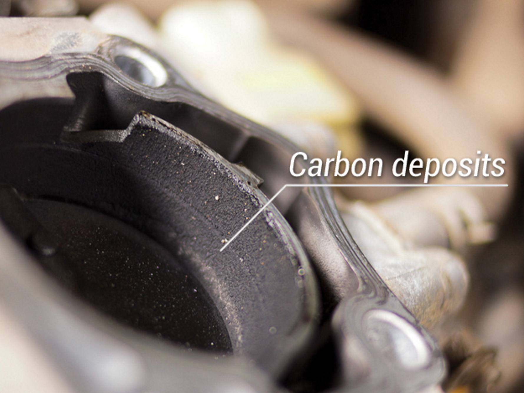 carbon deposits in throttle body