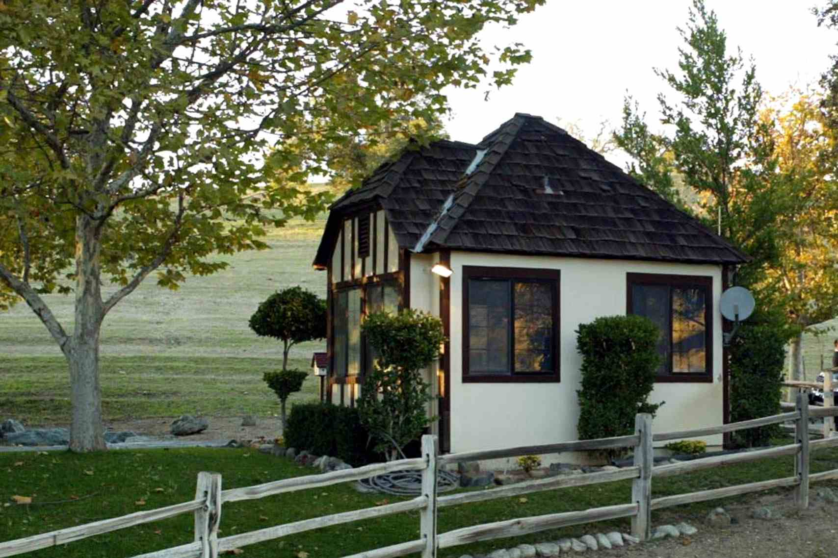 A cottage outbuilding at Neverland Valley Ranch, the Calif. home of Michael Jackson