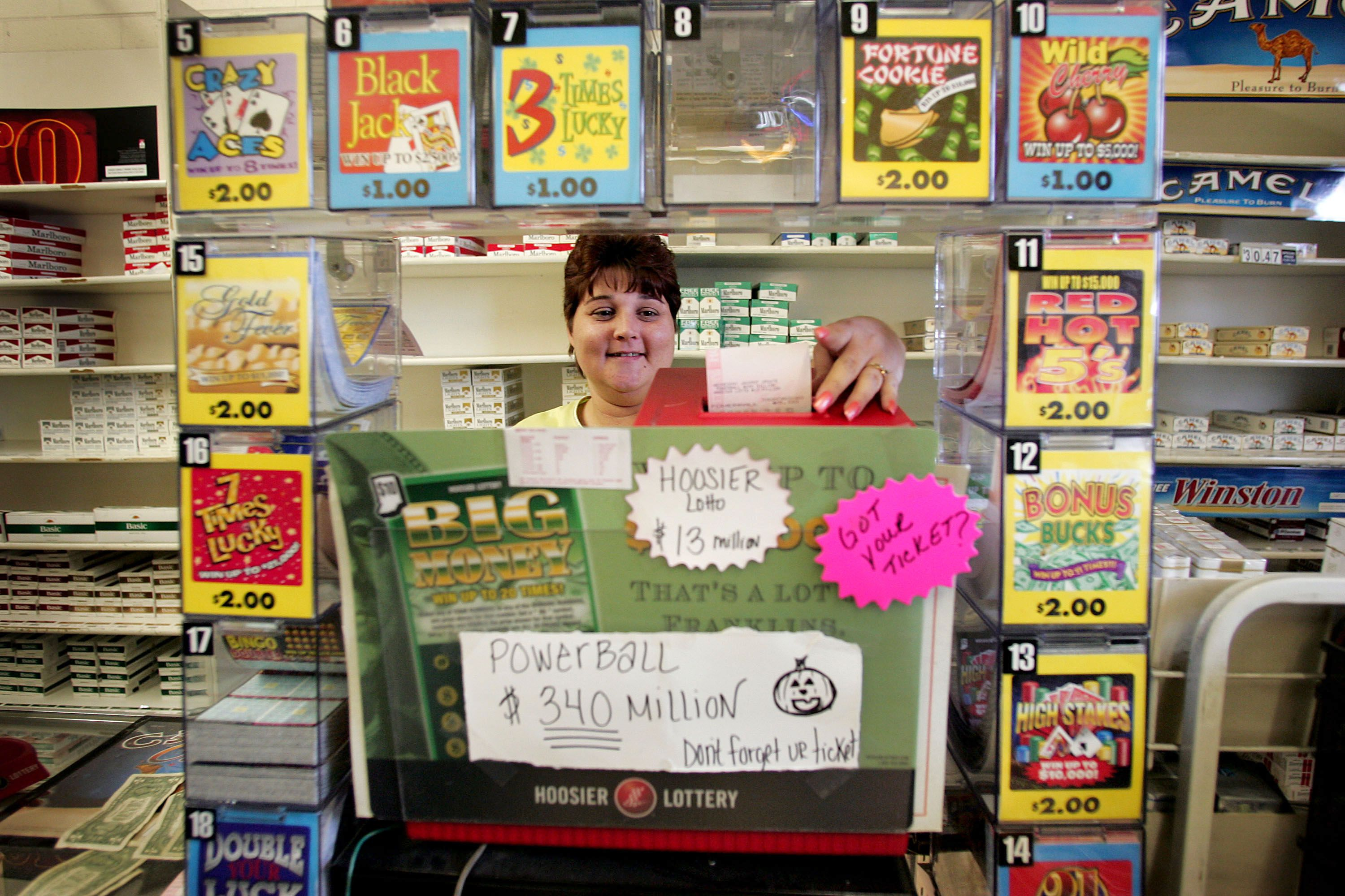 Image of a Convenience Store Selling Various Lottery Tickets