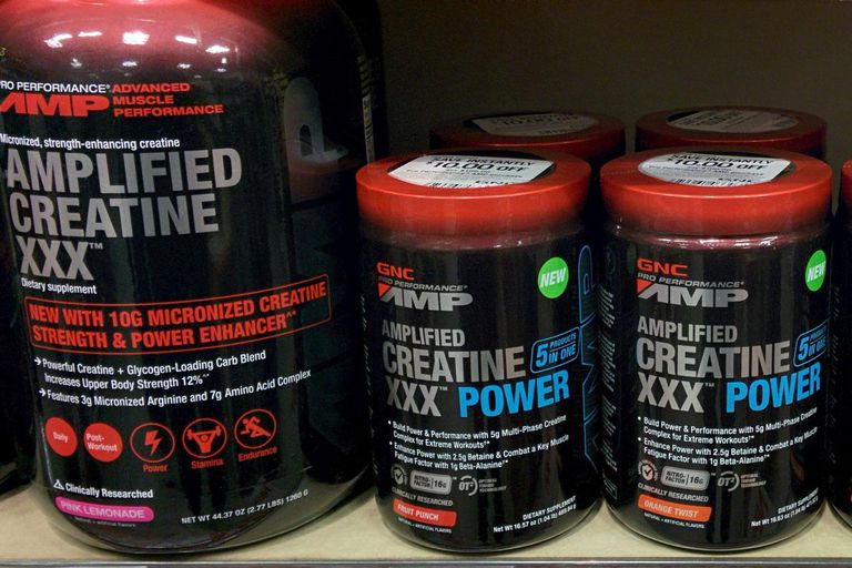GNC Creatine on a shelf