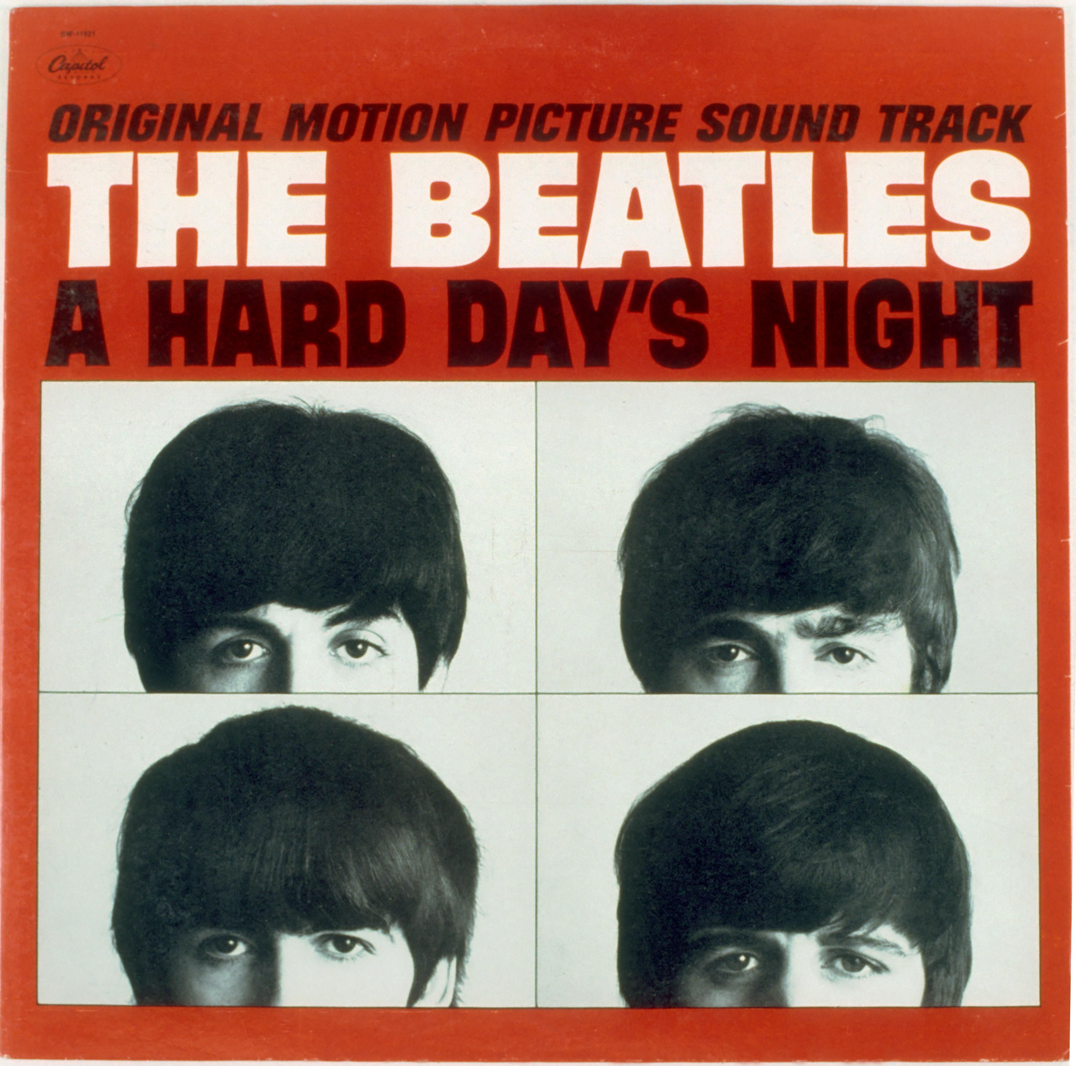 """The Beatles """"A Hard Day's Night"""" Album Cover"""