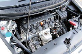 Honda Civic EX engine bay