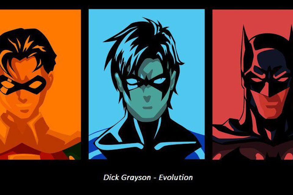 The evolution of Dick Grayson