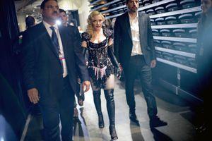 Madonna Backstage at the Grammy Awards