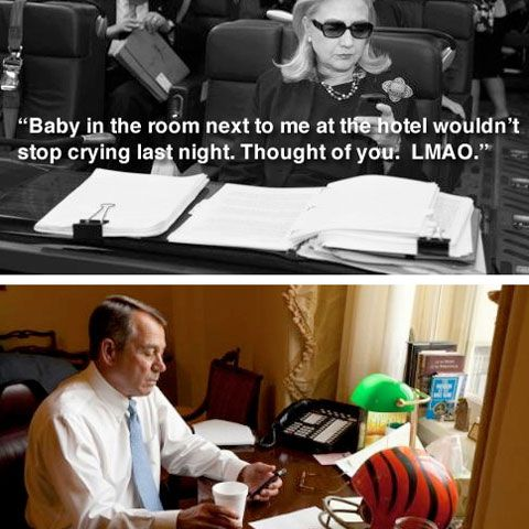 Hillary Clinton Text to John Boehner