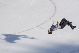 Skater in the middle of a backflip