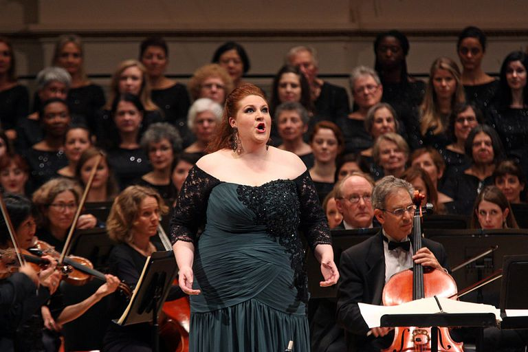 Tamara Wilson performing an aria from Wagner's 'Tannhauser.'