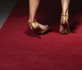 Broken high heel shoe