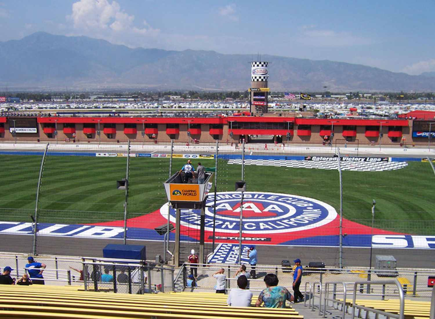 View of Auto Club Speedway from center of the grandstand.