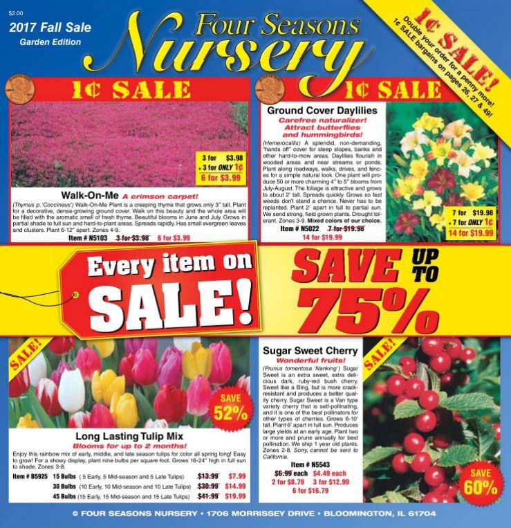 The Four Seasons Nursery 2017 fall catalog