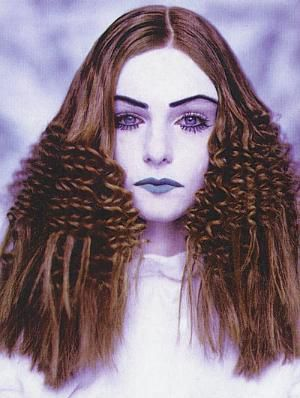 This look is all in the crimping iron