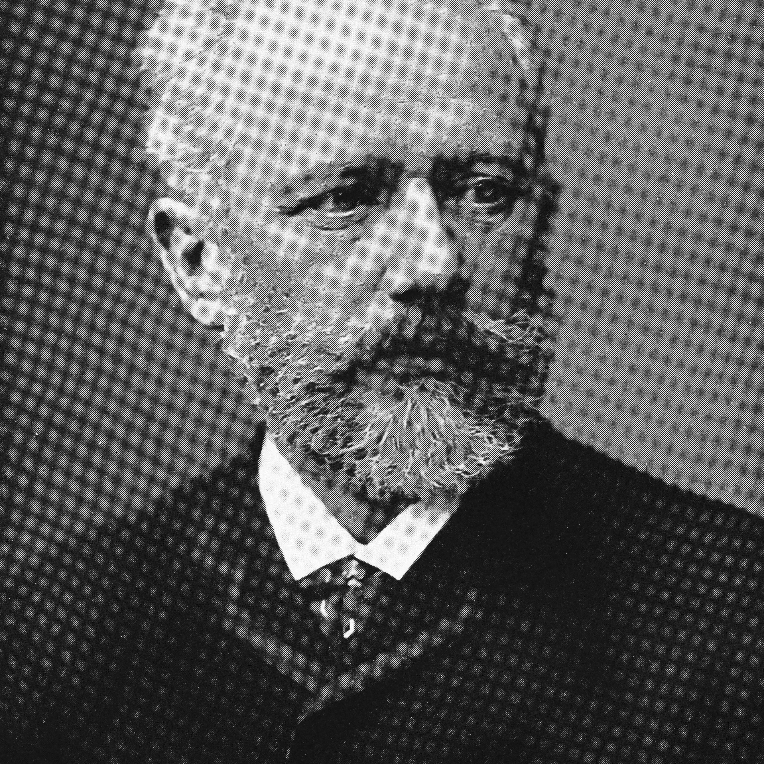 Tchaikovsky sitting for portrait