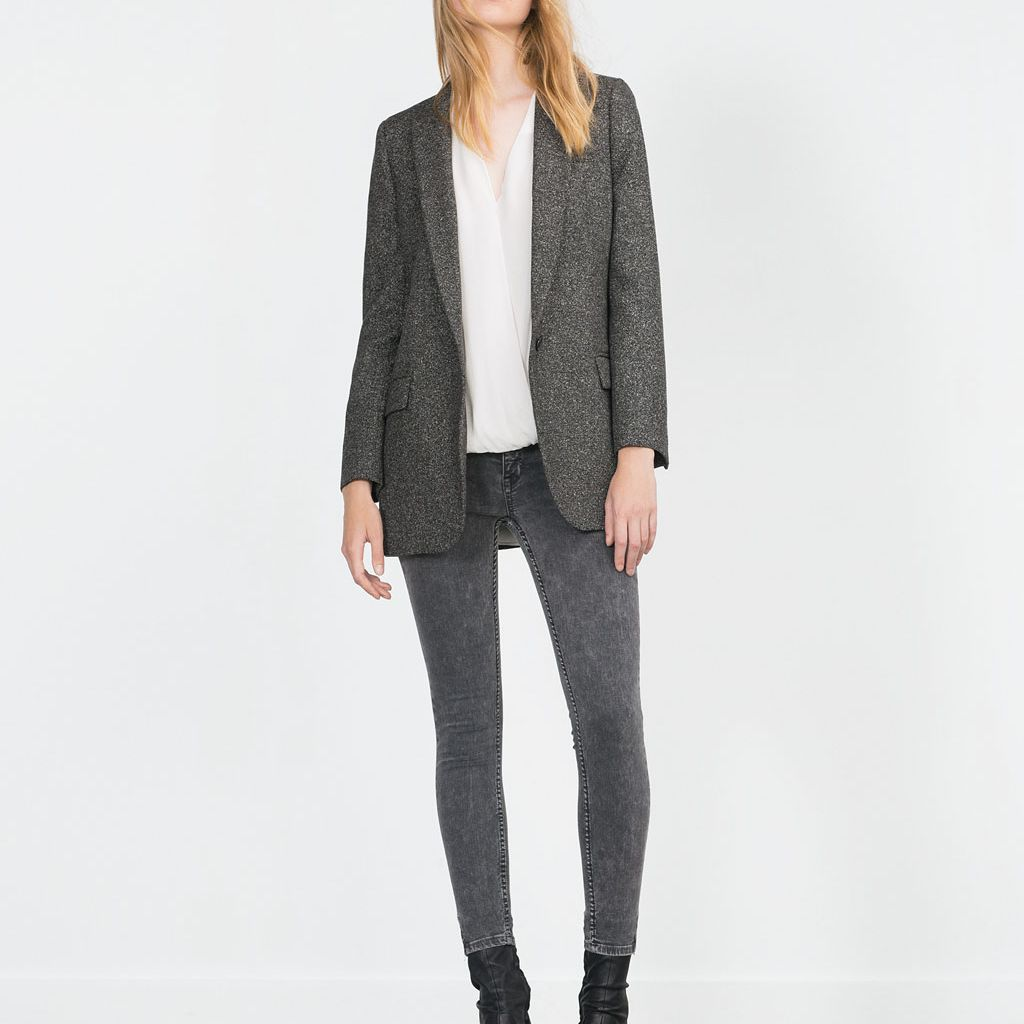 Zara grey jeans and blazer