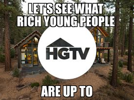 hgtv rich young people meme