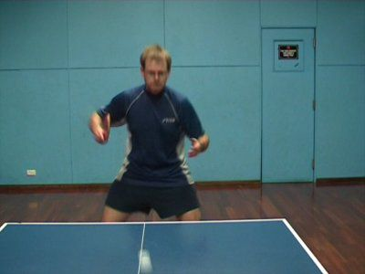 Photo of BH Sidespin Serve - Start of Return to Ready Position