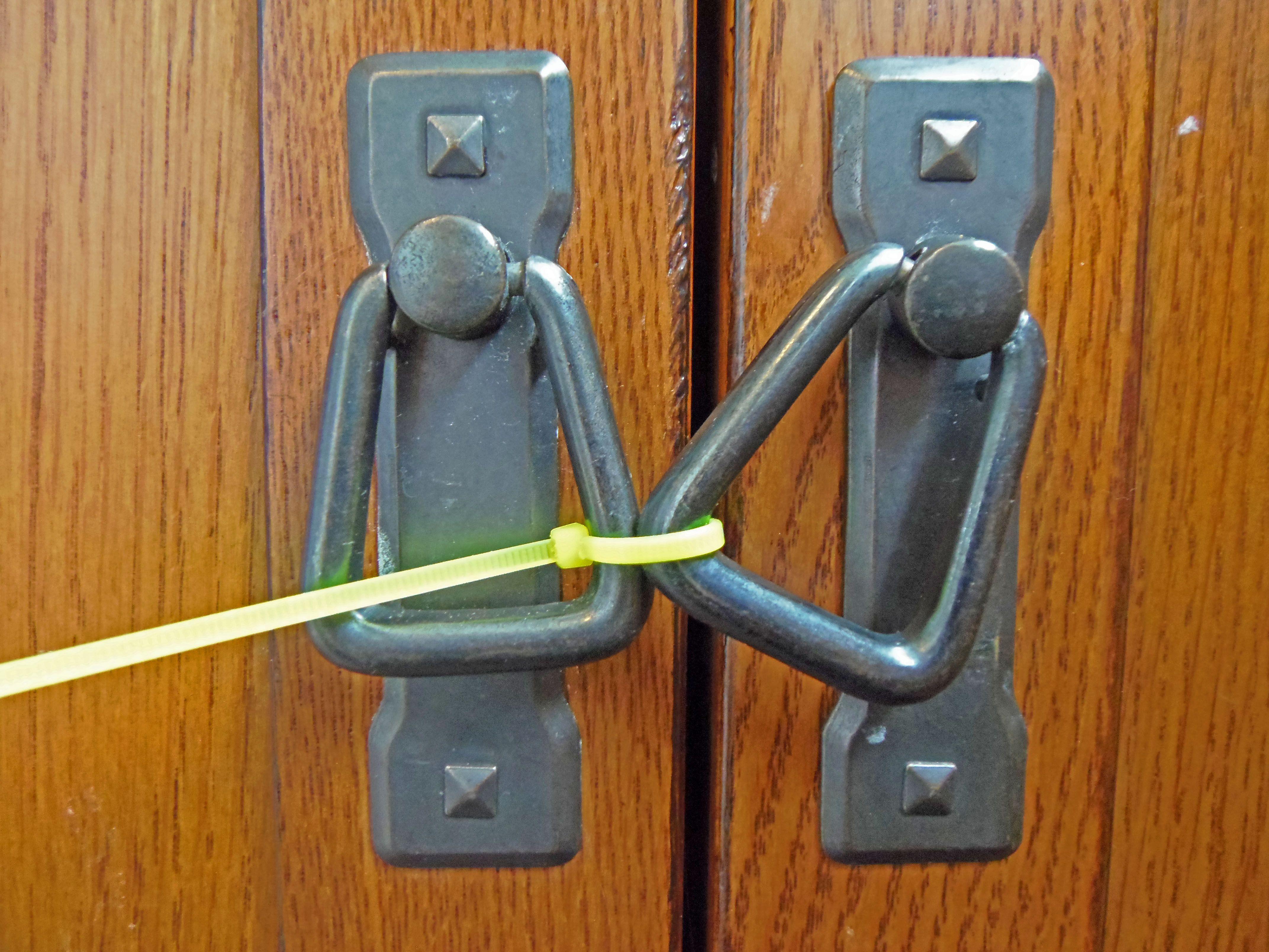 Zip Tied Cabinet