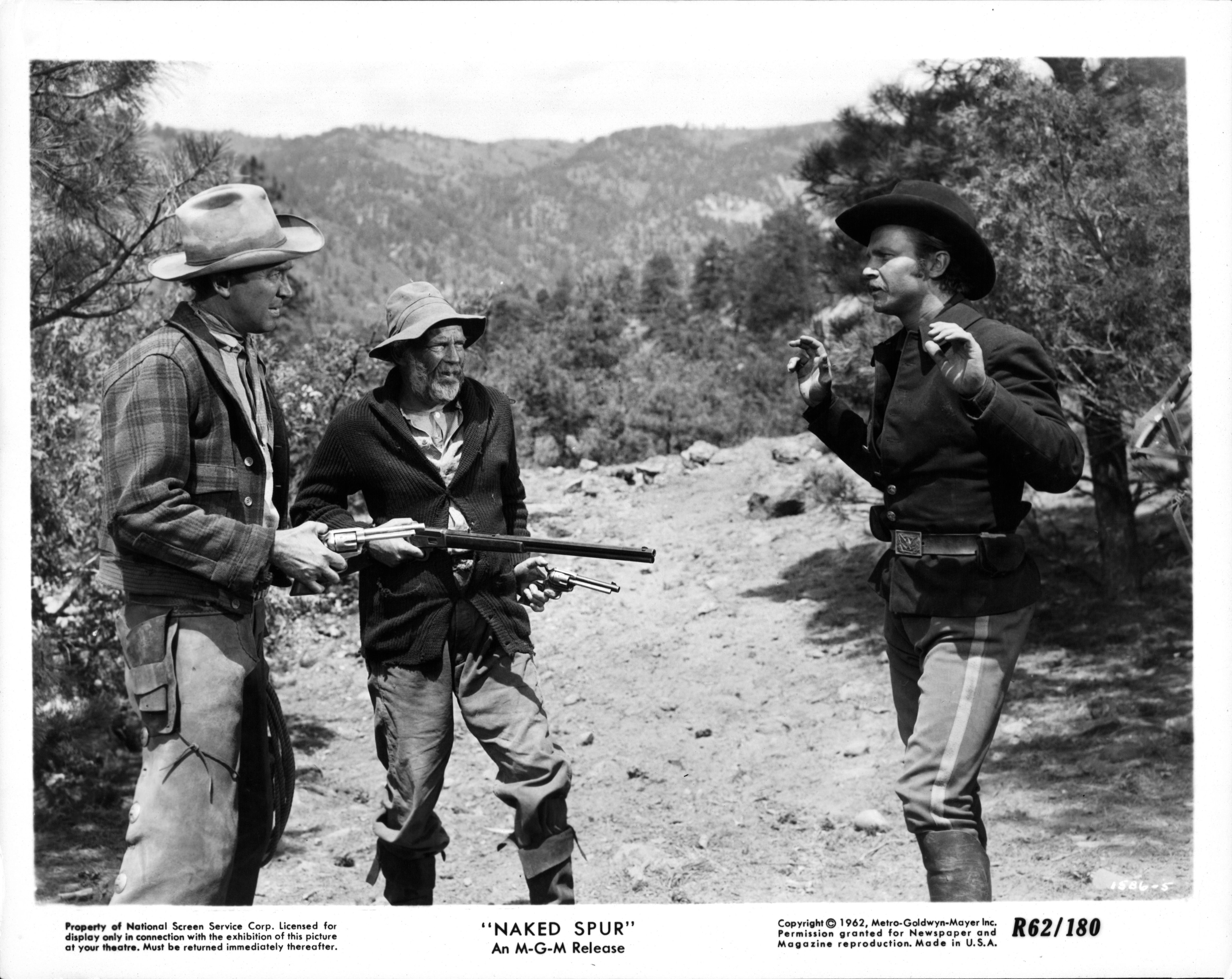 James Stewart And Millard Mitchell In 'The Naked Spur'