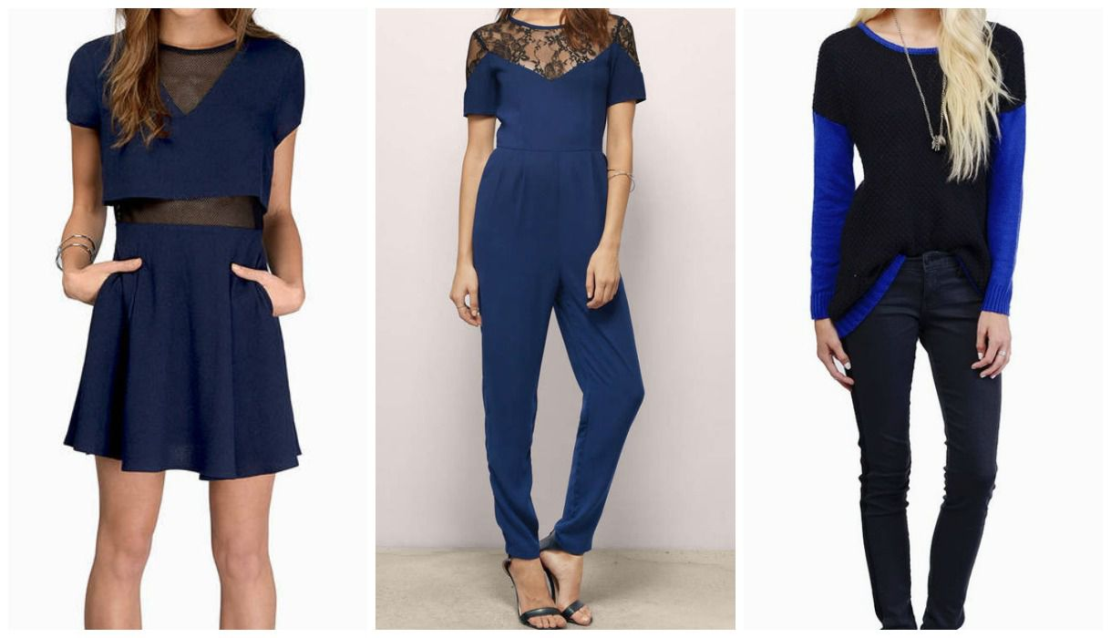 7 Ways To Wear Navy And Black Together